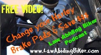 Biker Podcast Replace Harley Brake Pads Art