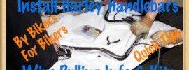 Harley Handlebar Install Wire Pulling Bars Video