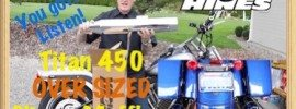 Vance & Hines Titan 450 Over Sized (OS) Slip On Mufflers Harley Davidson Art