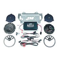 JM Rokker XX Extreme Amplifier And Speaker System Head To With The Harley Boom Audio Stage 2