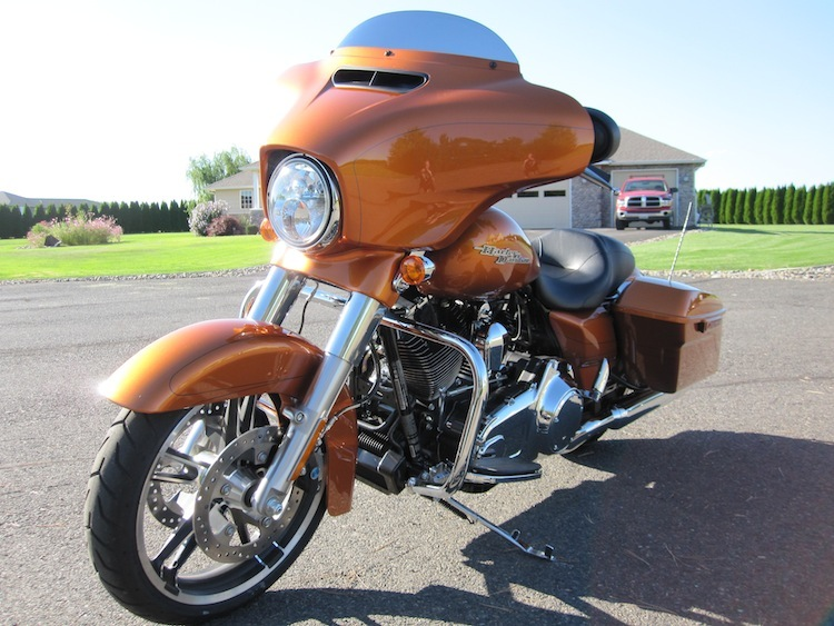 of the fairing is beautiful on the 2014 Street Glide Special