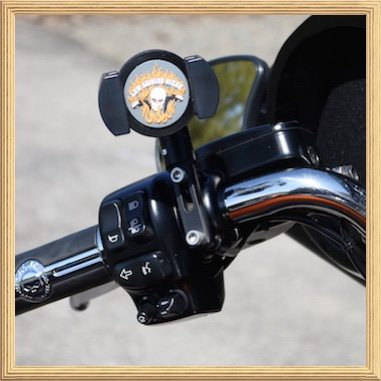 Biker Gripper Cell Phone Control Mount