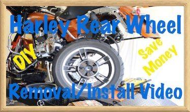 Remove Install Harley Davidson Rear Wheel Video