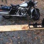 Plywood Motorcycle Wheel Chock