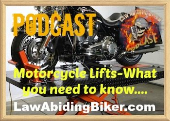 Biker Motorcycle Podcast Lift Jacks Art