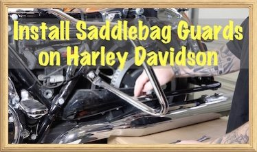 Harley Saddlebag Crash Guard Bar copy 3