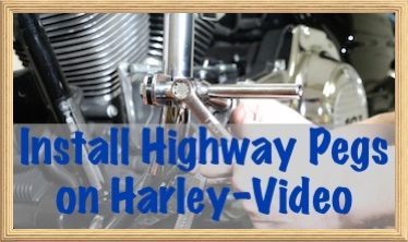 Install Highway Pegs on Harley copy 2