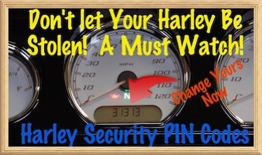 VIDEO-Set PIN Code-Access Harley Davidson Alarm No Key Fob