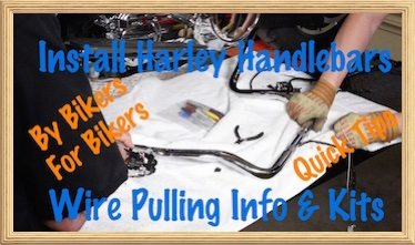 Harley Handlebar Install Wire Pulling Bars Video
