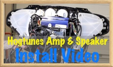 Video-Hogtunes Amp & Speaker Install on Harley Davidson | Hogtunes Amp Wiring Diagram |  | Law Abiding Biker