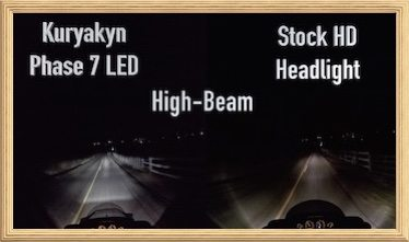 Kuryakyn Phase 7 LED Motorcycle Headlight Comparison adn Install