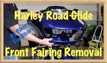 Video remove front fairing on harley davidson road glide special