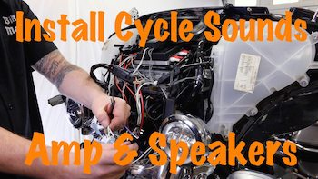 Video-Install Cycle Sounds Amplifier & Speakers on Harley