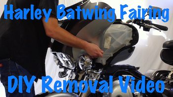 Harley Touring Batwing Fairing Removal Art 1 copy