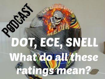 Helmet Rating Podcast Art