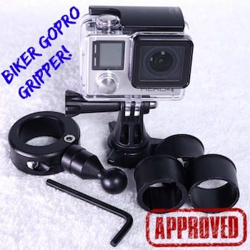 Biker GoPro Gripper Motorcycle Mount 9