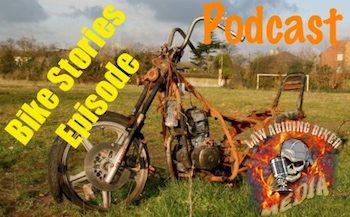 Junk rusty motorcycle biker podcast Art