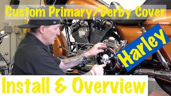 Harley Primary Custom Derby Inspection Cover Install Video Art copy