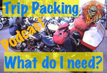 motorcycle trip packing overloaded safety art