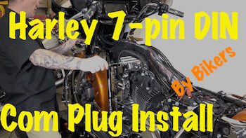 Harley 7-pin DIN Music & Commucations Kit Plug Install Video YT copy