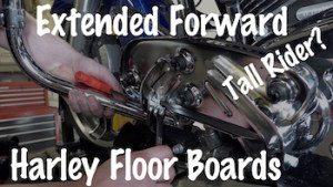 Install Harley Davidson Extended Floorboards Tall Rider Art Final YT copy