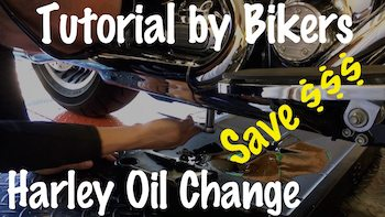 How to change the oil on Harley Davidson Tutorial copy