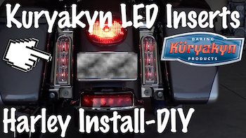 Kuryakyn LED Saddlebag Support Inserts For Harley Touring Artwork copy