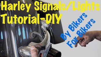 Harley black tail light signal bar replace video Art copy