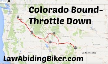 Law Abiding Biker Podcast Colorado Motorcycle Trip Art