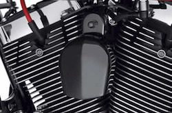harley black chrome horn cover