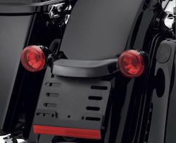 harley bullet rear light bar gloss black