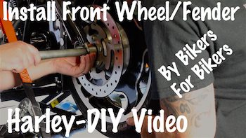 Remove Install Front Fender Wheel on Harley Yt copy