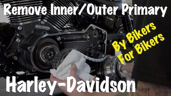Remove Harley Inner Outer Primary Clutch Compensator Sprocket YT copy