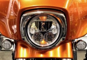 Vision X LED Headlight for Harley