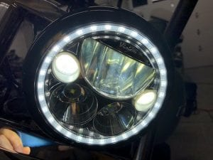 LED headlights for Harley, Indian, & metric motorcycles