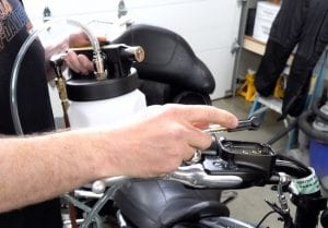 flush your harley brake system