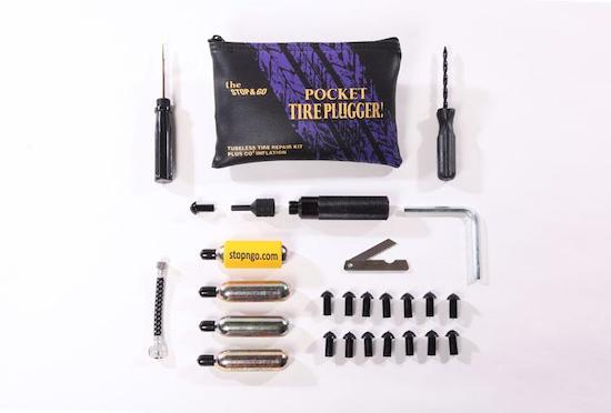 Harley, Indian, Metric motorcycle emergency tire repair kit