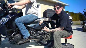 motorcycle suspension sag