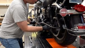 Progressive 444 rear suspension for Harley