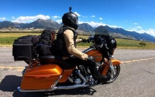 touring motorcycle windshield